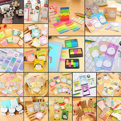 1PC Cartoon Sticker Post It Bookmark Marker Memo Pads Index Flag Sticky Notes
