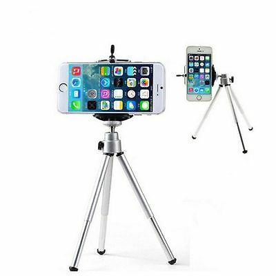 Aluminum Metal Silver Tripod Stand Mount+Phone Holder For Digital Camera &Mobile