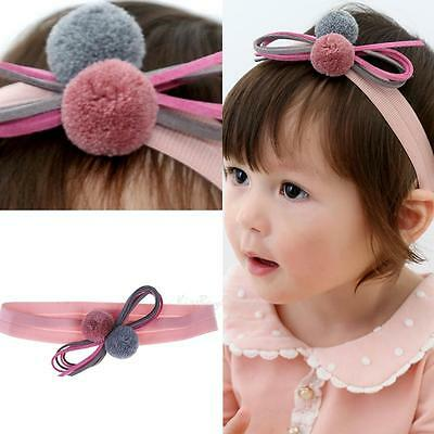 Soft Newborn Headband Baby Ribbon Elastic Headdress Kids Hair Band Bowknot UK