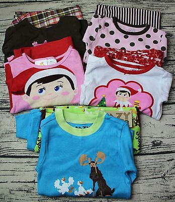 Lot of 5 Pairs Toddler Girls Size 2T Long Sleeve 2-Piece Pajamas/PJs/Sleepers