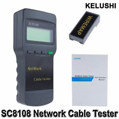 KELUSHI Portable Multifunction Wireless Network Tester Sc8108 LCD Digital PC Dat