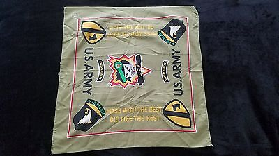 Vintage Vietnam US ARMY SPECIAL FORCES Handkerchief Bandana Made in USA