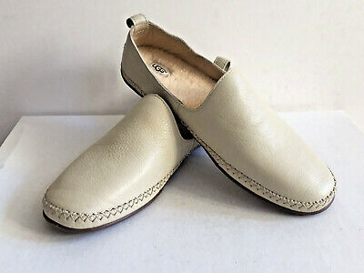 91ff41df238 UGG ANSLEY CREAM Slip On Moccasins Shoes Slippers Size Us 12/uk 10.5 ...