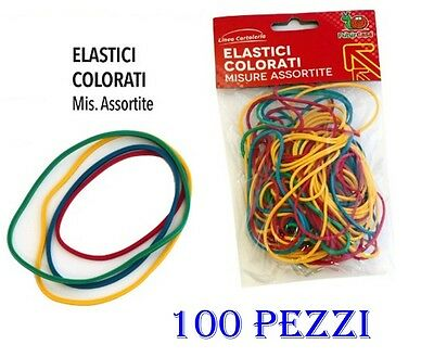 100 Elastici Colorati In Caucciu Multiuso Cartoleria Per Capelli Acconciature