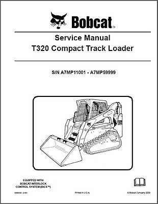 Bobcat T320 Compact Track Loader Service Manual on a CD