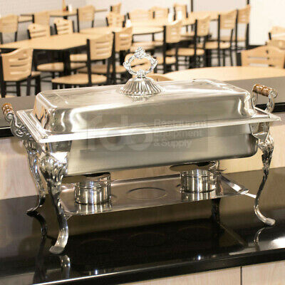 FULL SIZE Catering Classic STAINLESS STEEL Chafer Chafing Dish Set 8 QT Buffet