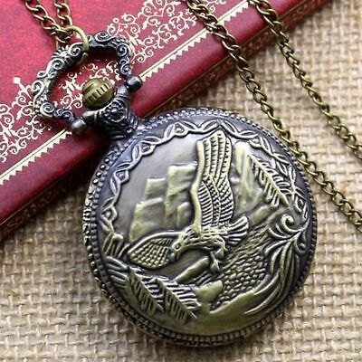 New. Pocket Watch With Pendant Chain. Flying Eagle. (18)