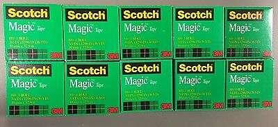 NEW! Scotch Magic Tape 10 Roll Value Pack - 3/4 x 1296 Inches (810P10K) Ten Pack