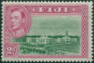 Fiji 1938 SG255 2d green and magenta Building KGVI P13½ MLH