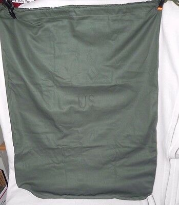 """Duffel Laundry Bag Government Issue Military Dry Bag Cotton 25""""x 30"""" OD New"""