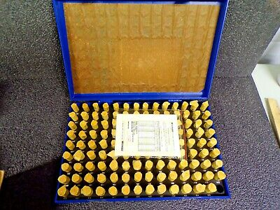 Polished Bearing Steel, Cylindrical Pin Gage Set, Minus, 125 Pc (K)