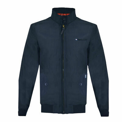 Lambretta Mens Navy ShowerProof Classic Harrington MOD Scooter Jacket Coat