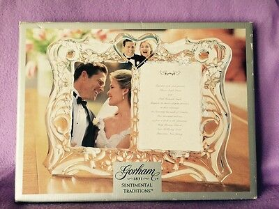 New- Gorham- Sentimental Traditions Picture Frame- Retail $80.00
