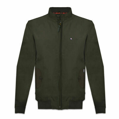 Lambretta Mens Khaki ShowerProof Classic Harrington MOD Scooter Jacket Coat
