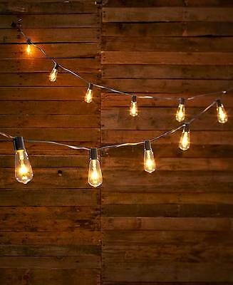 NEW Antique Style CLEAR Vintage Edison Style Bulb Indoor Outdoor String Lights