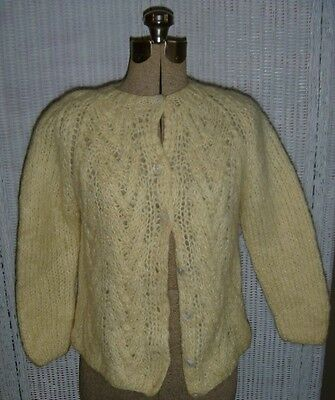 Vintage 50's/60's Hand Knit Wool/Mohair Sweater, Starlight Trading, Italy, Small