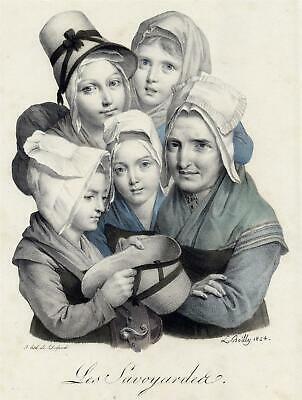 BOILLY, LOUIS - Les Savoyardeer - Lithographie - 1824