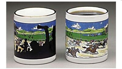 Wondermugs. Picture Changing Horse Racing Coffee Java Mug Cup Heat Activated