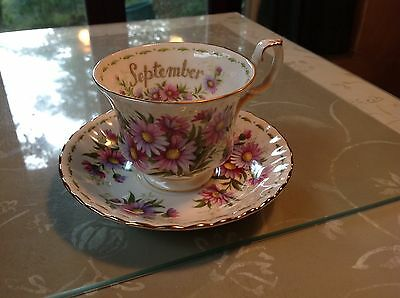 Tazza settembre Royal Albert Flower of the Month