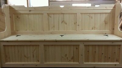 72 inch Wide Church pew/Monks Bench ( ANY SIZE MADE )