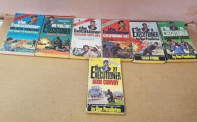 vintage lot of 7 The Executioner by Don Pendleton paperback books