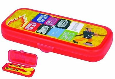 Fireman Sam Cutlery Travel Fork & Spoon With Case