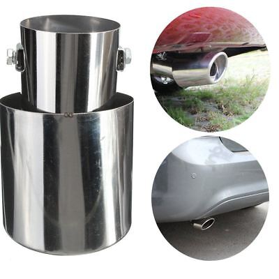 Universal Chrome Stainless Steel Car Rear Round Exhaust Pipe Tail Muffler Tip