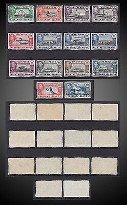 1938 -1946 Falkland King George Vi Definitive Issue Incomplete Sct. 84-92