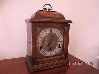Elliot Circa 1700 Style Walnut Quarter Chiming Bracket Clock