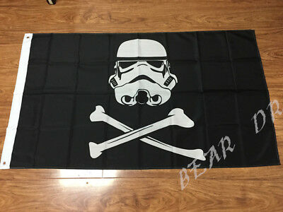Star Wars Stormtrooper Piratenflagge -  Polyester  - 70 x 100 cm