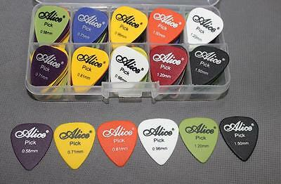 25Pcs 100Pcs Electric Guitar Bass Picks Plectrums Cozy Comfort Assorted Colours