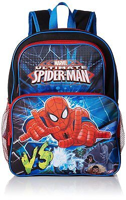 "NWT Marvel Ultimate Spider-Man 16"" Cargo Backpack School Authentic Licensed New"