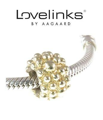 Genuine LOVELINKS 925 sterling silver + gold plate bubble charm bead