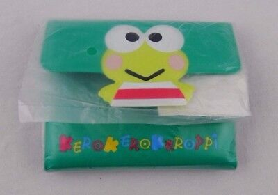 Vintage Sanrio Kero Kero Keroppi Frog Wallet Vinyl Green New Sealed Retired 1995