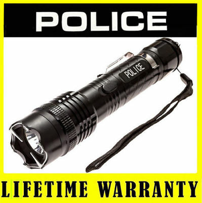 POLICE Stun Gun 1158 58 Billion Max Voltage Metal Rechargeable LED Flashlight