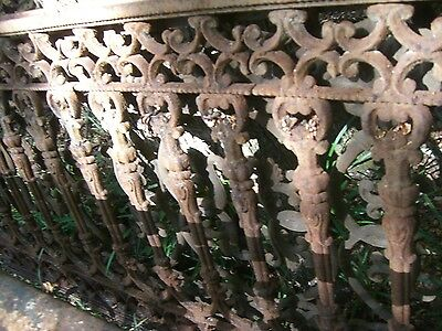 Antique Iron fence  panel Victorian Ornate 1880