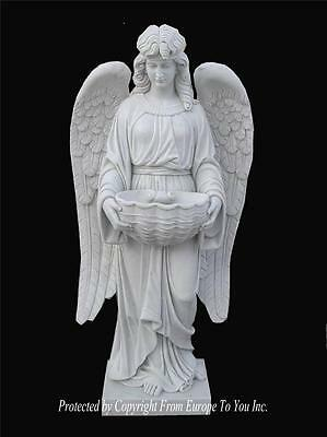 Beautiful Hand Carved Solid Marble Estate Incredible Religious Angel - Ma4