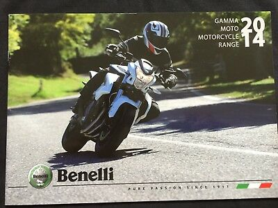 BENELLI MOTORCYCLES ORIGINAL 2014 SALES BROCHURE 32 PAGES feat...BN600 / TRE etc