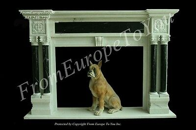 Hand Carved Marble French Style Fireplace Mantel