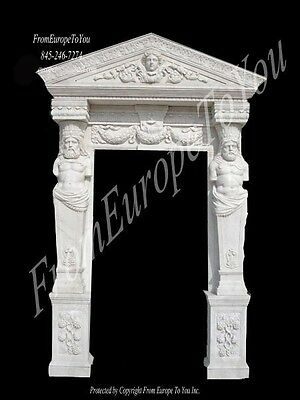 Nice Hand Carved Marble Figural Estate Entry Way - Mmo17