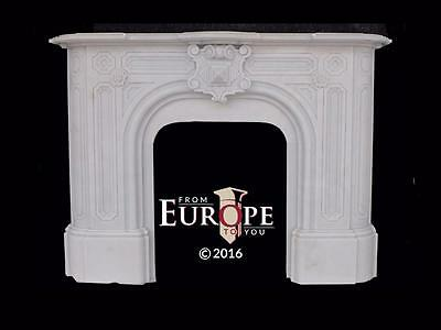 Beautiful Hand Carved Marble American Victorian Fireplace Mantel - Ny1