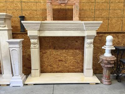 Beautiful Hand Carved Marble Estate  Fireplace Mantel  - Jd19