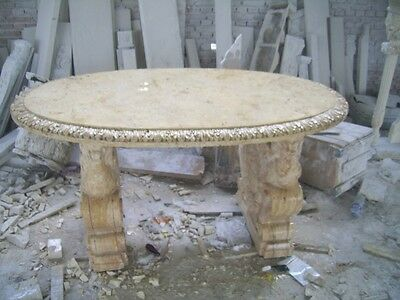 Lion Hand Carved Marble Griffin Table Td4
