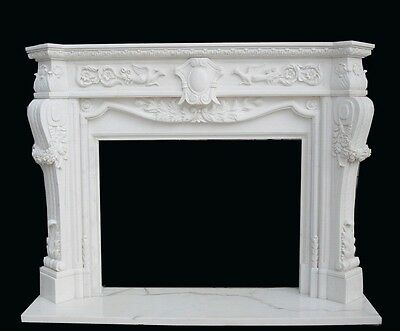 Hand Carved Marble French Style Fireplace Mantel Fp26