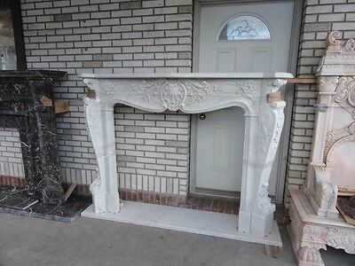 Hand Carved French Style Marble Fireplace Mantel Mbf90
