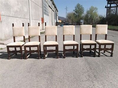 6 Italian Carved Antique C.1900 Dining Room Chairs 12It019D