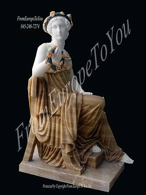 Great Hand Carved Marble Seated Goddess Sl1