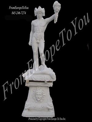 Best Hand Carved Persius White Marble Statue And Base
