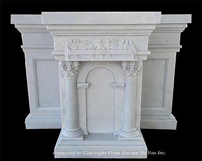 Beautiful Hand Carved Marble Altar With The Last Supper Carvings - Cas1