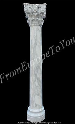 Incredible Hand Carved Italian Marble Corinthian Columns - Imc1